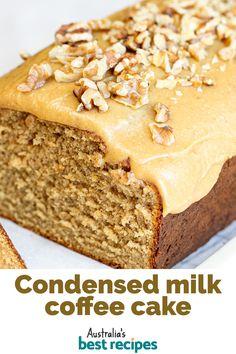 Condensed Milk Coffee, Condensed Milk Recipes, Cake With Condensed Milk, Baking Recipes, Dessert Recipes, Easy Cake Recipes, Sweet Recipes, Bolos Cake Boss, Cheesecakes