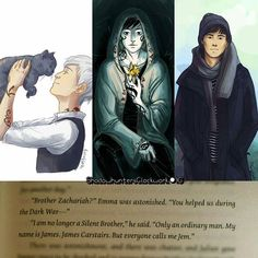 James Carstairs the dying warrior. Brother Zachariah the lonely silent one. Jem…