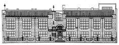 prospetto nord_Glasgow school of Art_Mackintosh Glasgow School Of Art, Art School, Charles Rennie Mackintosh, Architecture Drawings, Brutalist, Art Google, Art Nouveau, Louvre, History