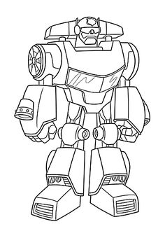 Be a hero and color these transformers rescue bots by for Rescue bots heatwave coloring page
