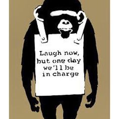 "Iconic Banksy piece ""Laugh Now"" #streetart #banksy"