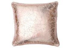 Metallic 18x18 Pillow, Rose Gold on OneKingsLane.com