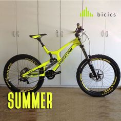 Summer for bicycles. have fun on a yellow bike. Be sure you will standout on summer and winter with this bicycle. #summer #bicycle #adventure #fun #mountainbikes #downhill #bicics
