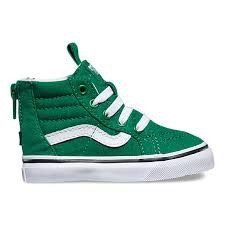 Sk8 Hi Varsity Green True White