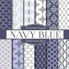 """12 pieces of paper NAVY BLUE design You will receive: 12 high quality 300 dpi 12"""" x 12"""" (3600x3600 px) JPEG files without watermarks Digital files are for COMMERCIAL and PERSONAL use. 300 DPI great for printing! 12 pieces of digital paper"""