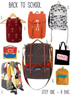 Mallory McInnis rounds up a selection of bags just right for back to school.