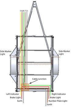 Standard 4 Pole Trailer Light    Wiring       Diagram      Trailer light    wiring        Boat    trailer lights