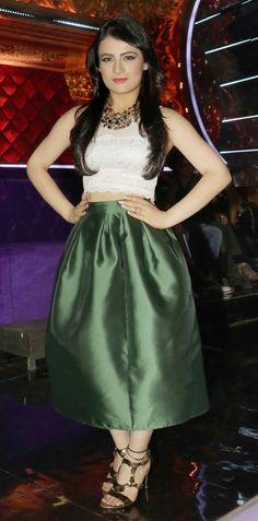 Radhika Madan on #Jhalakdikhlajaafinale wearing a beautiful outfit.