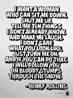 Henry Rollins is a badass feminist Fantastic Quotes, Great Quotes, Quotes To Live By, Me Quotes, Inspirational Quotes, Motivational, Henry Rollins Quotes, Thats The Way, Fight Club