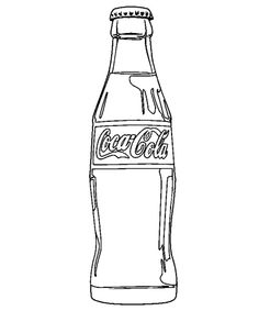 Drinks Coloring Pages    Got to do something with this for my daughter in law.  She loves Coke collectables