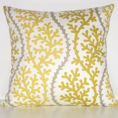 YELLOW CORAL pillows   2 decorative pillow covers by StillLifeHome, $38.00