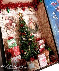 Alpha Stamps News Miniature Christmas, Christmas Minis, Christmas Books, Christmas Projects, Handmade Christmas, Vintage Christmas, Christmas Holidays, Christmas Decorations, Christmas Ornaments