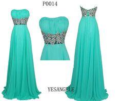 Green Evening Dresses Long Prom Dresses Bridesmaid dresses