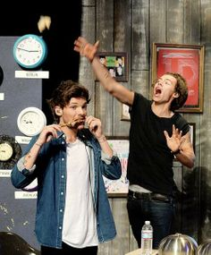 Louis and Harry being normal.