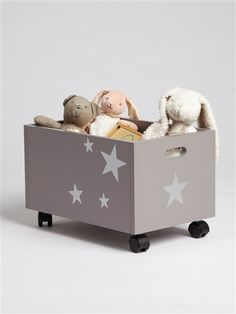 Toy box storage with wheels - very sweet