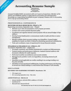sample resume for accounting