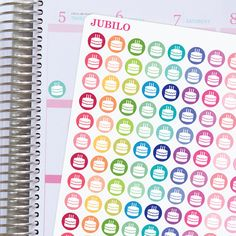 Planner Stickers Birthday Dots by PlannerStickerJubilo on Etsy