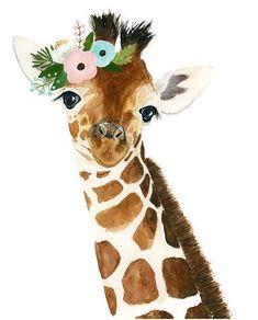 Jirafa bebé acuarela número 2 jirafa de animal a. Animal Paintings, Animal Drawings, Cute Drawings, Kids Wallpaper, Animal Wallpaper, Watercolor Animals, Watercolor Paintings, Baby Animals, Cute Animals