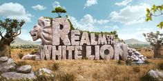 Realm of The White Lion - 3D Typography