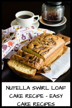 This Nutella swirl loaf cake is the perfect afternoon tea cake that comes together quickly and easy. Eggless Recipe option inside MADE WITH PINGENERATOR.COM Homemade Vanilla Cake, Vanilla Sponge Cake, Eggless Recipes, Vanilla Recipes, Sponge Cake Recipes, Easy Cake Recipes, Afternoon Tea Cakes, Swirl Cake, Lime Cake