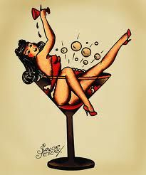 Sailor Jerry, cocktail girl