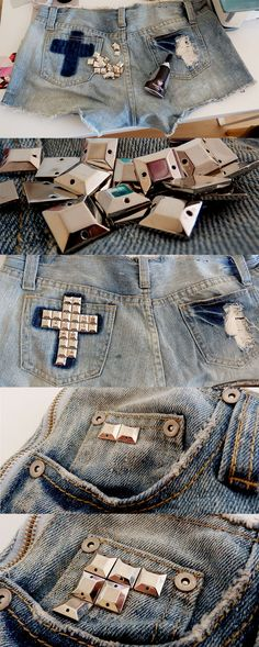 DIY-studded-shorts-cross-on-the-back-daphne-lopes-square-studs-front-and-back-how-to-do-it-yourself
