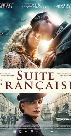 Directed by Saul Dibb.  With Michelle Williams, Kristin Scott Thomas, Margot Robbie, Eric Godon. During the early years of Nazi occupation of France in World War II, romance blooms between Lucile Angellier (Michelle Williams), a French villager, and Bruno von Falk (Matthias Schoenaerts), a German soldier.