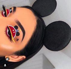 süßes Mickey Mouse Disney Make-up # - make up love - Eye-Makeup Burgundy Makeup Look, Makeup Black, Vintage Makeup Looks, Purple Makeup Looks, Red Lips Makeup Look, Glitter Makeup Looks, Soft Makeup Looks, Peach Makeup, Glam Makeup Look