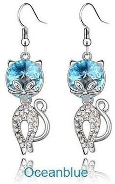 You'll say ooh-la-la when you see the Austrian Crystal ... Check it out! http://catrescue.myshopify.com/products/austrian-crystal-leopard-shape-drop-pendant-stud-earrings?utm_campaign=social_autopilot&utm_source=pin&utm_medium=pin