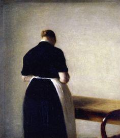 The Athenaeum - Figure of a Woman (Vilhelm Hammershøi - )