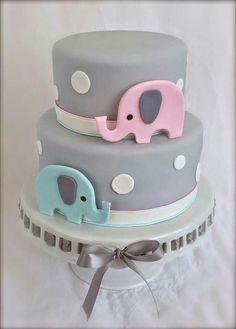 Gender reveal cake- Elephant