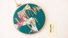Inspirational Woman Up Quote Embroidery by HandmadebyHolchester