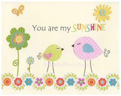 Está mi signo sol para habitación de niña - bebé niña sol decoración, decoración de aves - impresión 8 x 10, los niños sala de arte, Catalina o Victoria del lecho