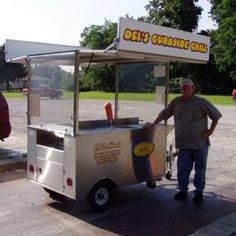4x6' Grill/Steam Table cart, towable, canopy by All A Cart Manufacturing