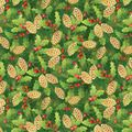 PEACE HOLLY AND PINECONES FABRIC - Christmas Fabrics - Fabric - Nancy's Notions