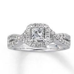 14K White Gold 1 Carat t.w. Diamond Engagement Ring  HOPEFULLY MY ENGAGEMENT RING... BEAUTIFUL!!