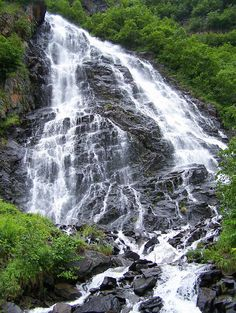 Horsetail falls, Valdez Alaska. I remember there were so many waterfalls in this city.