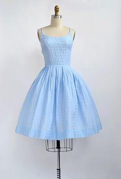 vintage 1950s dress | Blue Skies Yonder Dress