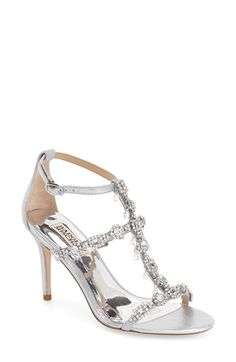 Badgley Mischka 'Evening II' Crystal Embellished Sandal (Women)