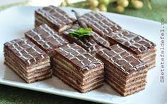 Prajitura cu foi de cacao si crema de vanilie este una tare draga sufletului …