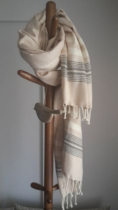 100 % Cotton Towel   Beach sarong  Woven towel  by CottonMood