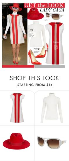 """""""Get The Look-Lady Gaga"""" by kusja ❤ liked on Polyvore featuring Brian Atwood, Jonathan Saunders, Filù Hats, Bebe, GetTheLook, celebstyle and LadyGaGa"""
