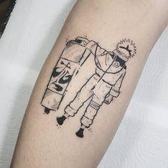 Um dos personagens mais curtidos por aqui: Naruto Você gostaria de ter um dia dedicado a postagens do seu personagem preferido? Qual? Artista: @sergiomironttt Naruto Tattoo, Manga Tattoo, Pokemon Tattoo, Anime Tattoos, Dope Tattoos, Body Art Tattoos, Small Tattoos, Sleeve Tattoos, Tatoos
