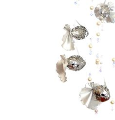 baby mobile silver fishes. Sparkles  silver  by AnnushkaHomeDecor