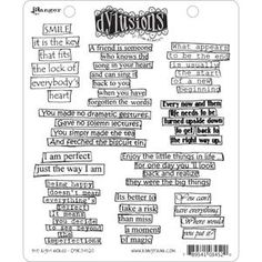 Dyan Reaveley THE RIGHT WORDS Stamp Set Dylusions Cling Unmounted Rubber DYR34520 at Simon Says STAMP!