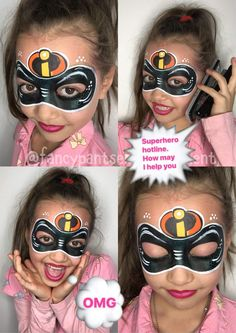 Face painting examples are very useful in the art of face painting. One of the greatest things about face painting examples, is that there are many reference guides both free and for sale that will show you many different types of fac Face Painting Halloween Kids, Superhero Face Painting, Face Painting For Boys, Halloween Make Up, Face Painting Images, Face Painting Designs, Belly Painting, Mask Painting, Mime Face
