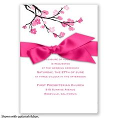 Budding Beauty - Watermelon - Invitation Cherry Blossom Inspiration
