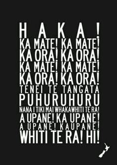 !!HAKA!! Lyrics anyone? :)