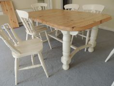 shabby chic table and chairs Shabby Chic Table And Chairs, Dining Table, Rooms, Living Room, House, Ebay, Furniture, Beautiful, Ideas