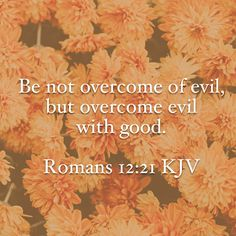 Overcome evil with good #Bible #verse